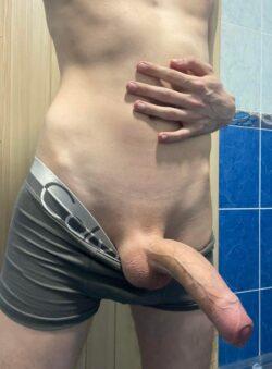Big shaved twink dick