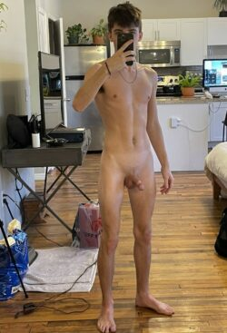 Erected cut twink cock