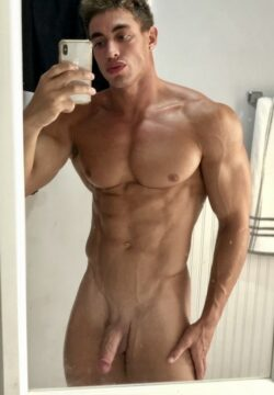 Hunk with shaved cock
